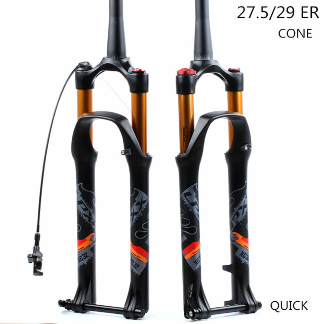 LPXX 32 RL 120mm Air  27.5 29ER cone Inch Fork Suspension Lock Straight Tapered Thru Axle QR Quick Release for MTB Bicycle