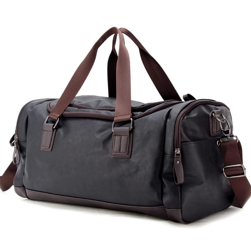SPORTSHUB Top PU Leather Men's Sports Bags Gym Bags Classic Sports HandBag Fitness Travel Bags Workout Shoulder Bag SB0029