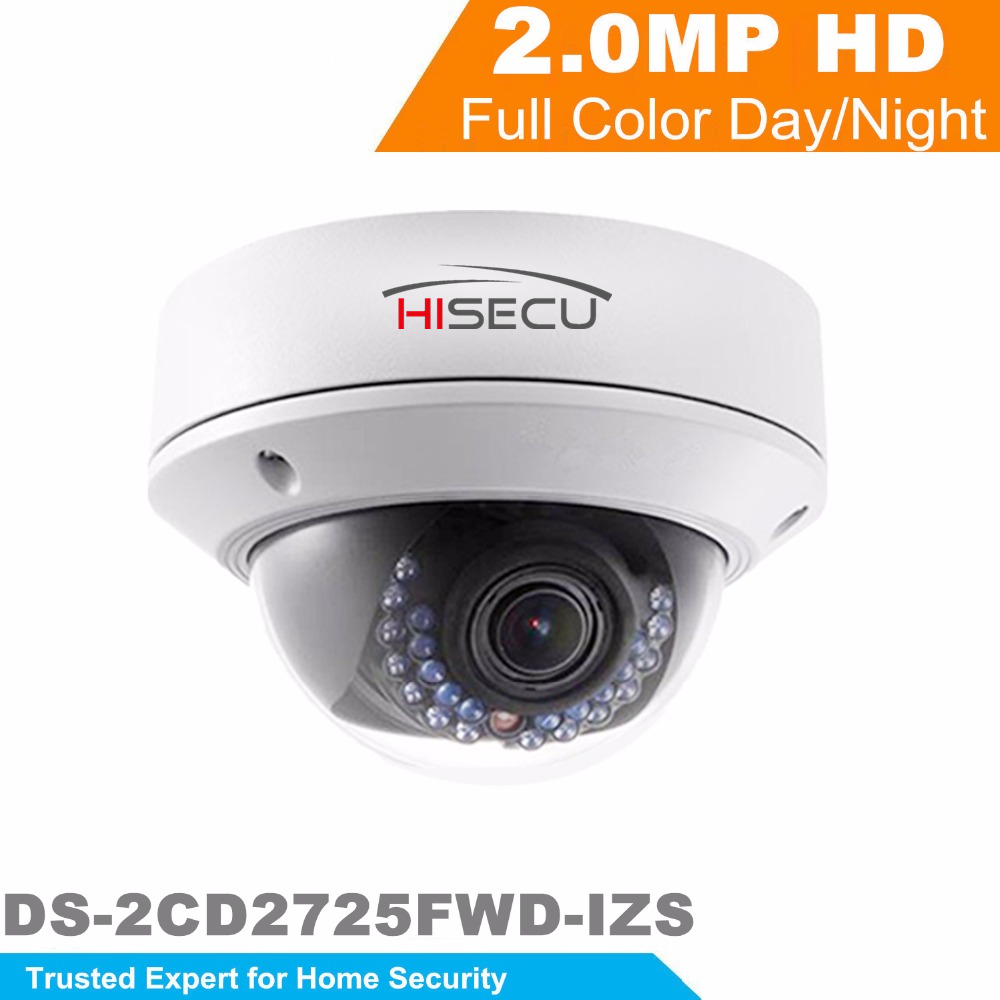 HiK New Released H.265 IP Camera 2MP WDR Motorized Vari-focal Bullet Network Camera DS-2CD2725FWD-IZS Replace DS-2CD2722FWD-IZS hikvision new released 8mp h 265 network dome camera ds 2cd2185fwd i 3d dnr bullet camera 3840 2160 resolution ik 10 ip 67
