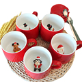 Christmas Gift Mug Stereo 3D Animal Lovers Coffee milk Creative ceramics Mug Santa Claus Reindeer Snowman Christmas tree Panda