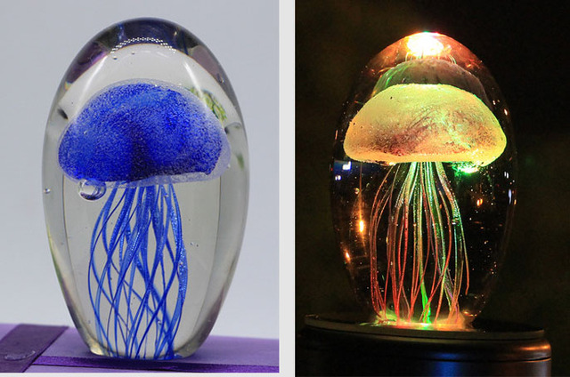 Jelly Fish Crystal Lamp blue