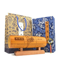 Chinese Handmade Traditional Retro Classic Carved Laozi Tao Te Ching Bilingual Bamboo Slip