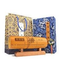 Chinese Handmade Traditional Retro Classic Carved Laozi Tao Te Ching Bilingual Bamboo Slip