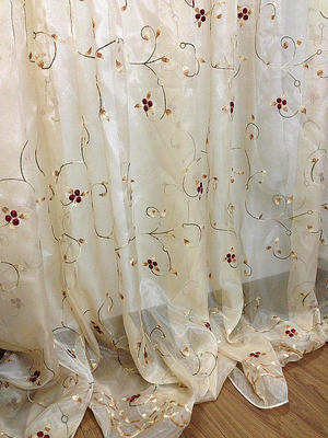 2 7m High Free Shipping Romantic Tulle Yellow Sheer