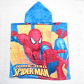 Retail 2015 New Children Spiderman Robes Boys Cartoon Bathrobes kids Spider-Man Swimming Cloak bath towel Baby Beach wear 1pcs