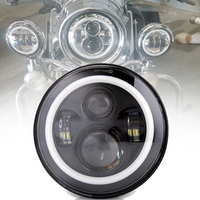 Marlaa 7 inch Halo LED Headlight for Electra Glide Street Glide Fat Boy Road King Heritage Softail Switchback Headlamp