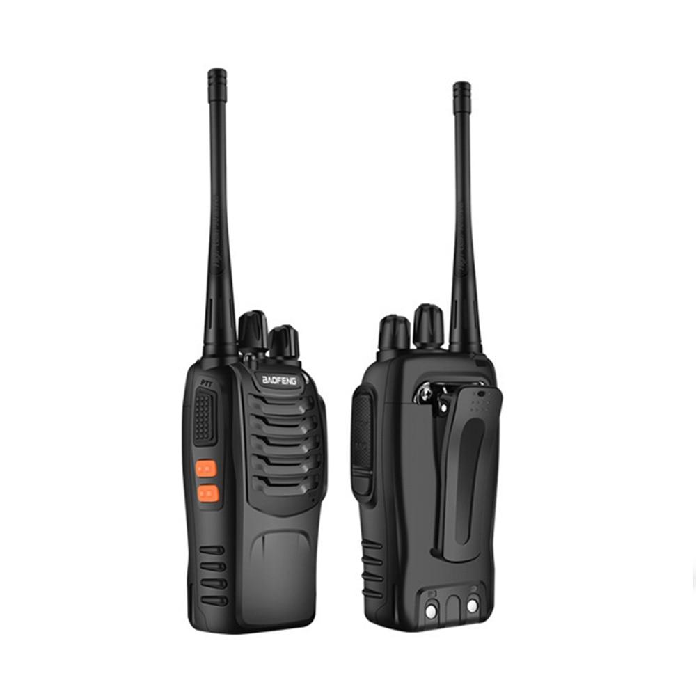 2PCS/lots Walkie-talkie Bf-888s 5W To The Intercom Outdoor BF Handheld 400~470mhz Radio RF Transceiver
