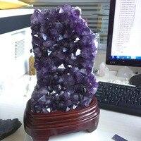 3.1kg Natural Deep Purply Healing Amethyst Cluster Geode Specimen Decoration Crystal for Home