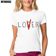 MYNOVAZ Newest Lover Or Loser Printed T-Shirt Women's Casual Letters T-Shirt Summer Fashion Novelty Basic Style Tops Tee Shirts