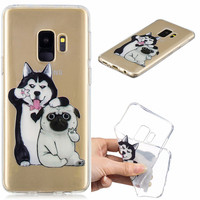 100pcs Soft TPU 5.8 FOR Capa Samsung Galaxy S9 Case Cover Printed Silicone Phone Back Protective FOR Funda Samsung S9 Case