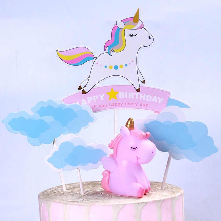 Украшения в виде единорога красивые украшения торта Единорог десертный стол украшения