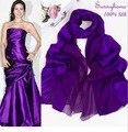 Старинные фиолетовый Шарф шаль для women100 % Атласная шелк полноценно Night party Платье Аксессуары пашмины банданы шарф для женщина