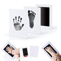 Комплект для фотосъемки с отпечатком отпечатка ноги новорожденного ребенка нетоксичный чистый сенсорный коврик для чернил
