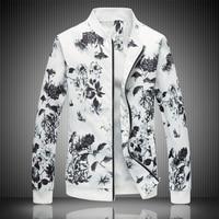 2018 Spring Men S Jacket Prints Plus Size Fashion Youth Jacket Summer Men S White Suits