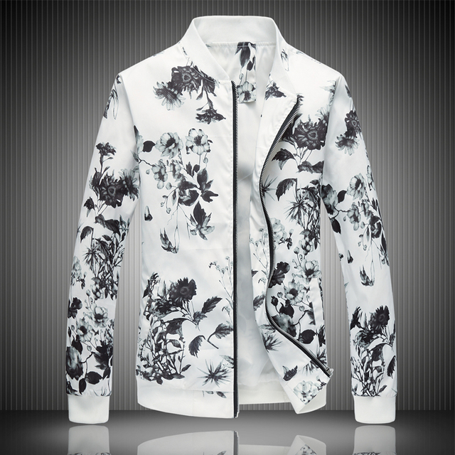 2018 spring men s jacket prints plus size fashion youth jacket