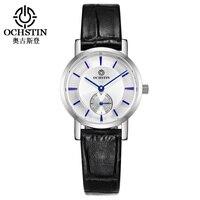 OCHSTIN Women Leather Quartz Watches Small Size Fashion Casual Wrist Watch Lady Wristwatch with sub Second Dial LQ017C