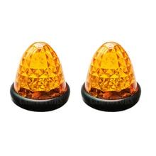 HEHEMM 2 X 16 LED Car Side Marker Lights Round Beehive Clearance Cab Top Roof Bulbs 12V DC цена