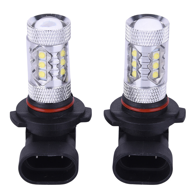 H10 Light Bulb: 2pcs 12V Super Bright Car Auto 80W HID Xenon White 7000K H10 LED Light bulbs  Fog/Daytime Running Light,Lighting