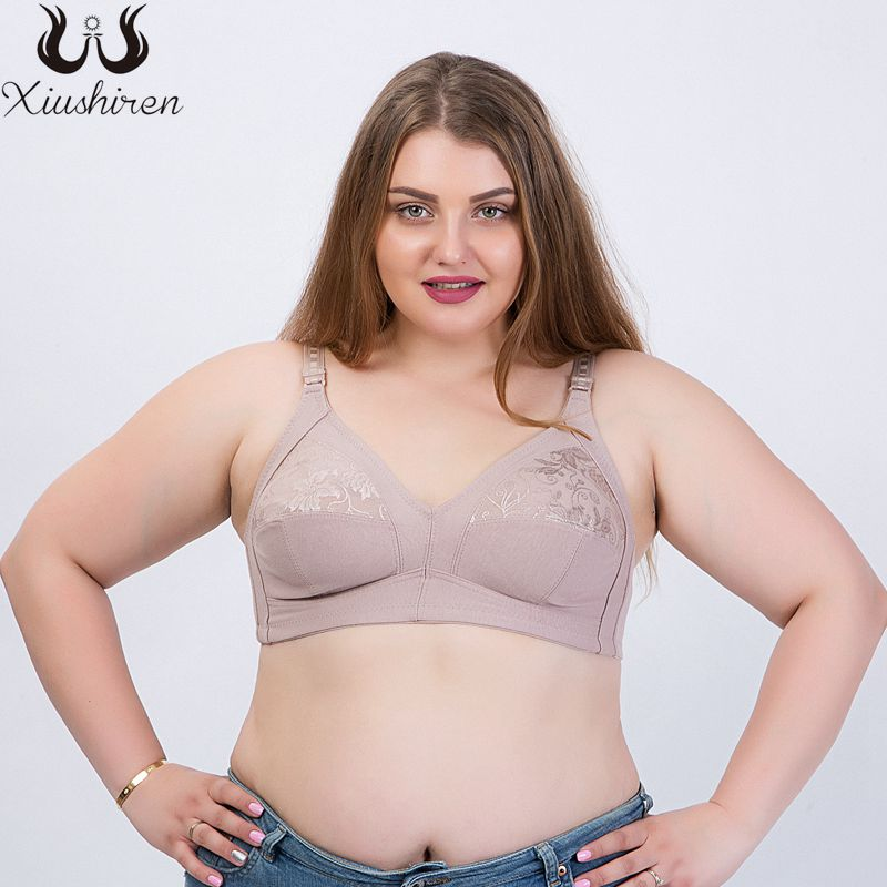 7e99aa72b Detail Feedback Questions about Xiushiren Cotton Everyday Wireless Full  Coverage Leisure Bras Embroidery Bra Top Women Lace Underwear Plus Size  Bralette 38D ...
