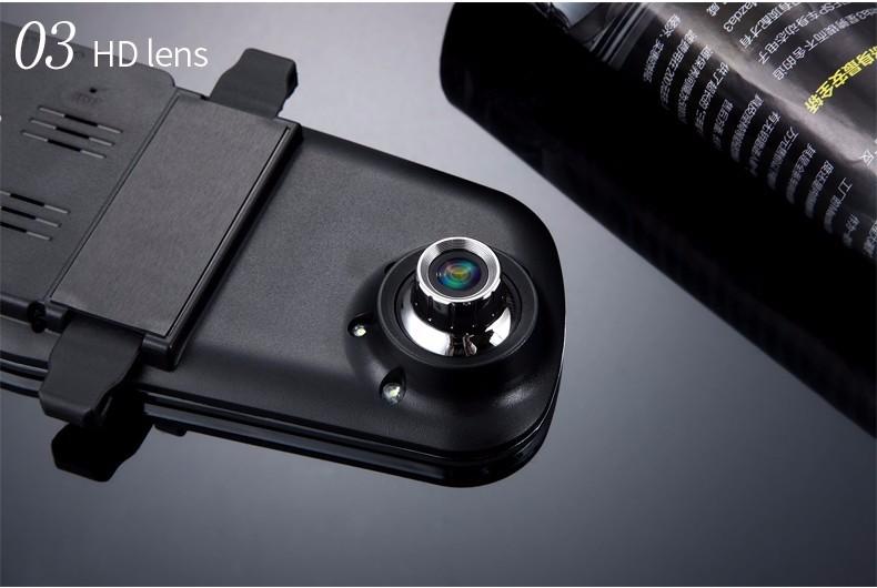 E-ACE Car Dvr Camera Led Lights Blue Rearview Mirror FHD 1080P Night Vision Video Recorder Dual Lens Auto Registrator Dash Cam 23