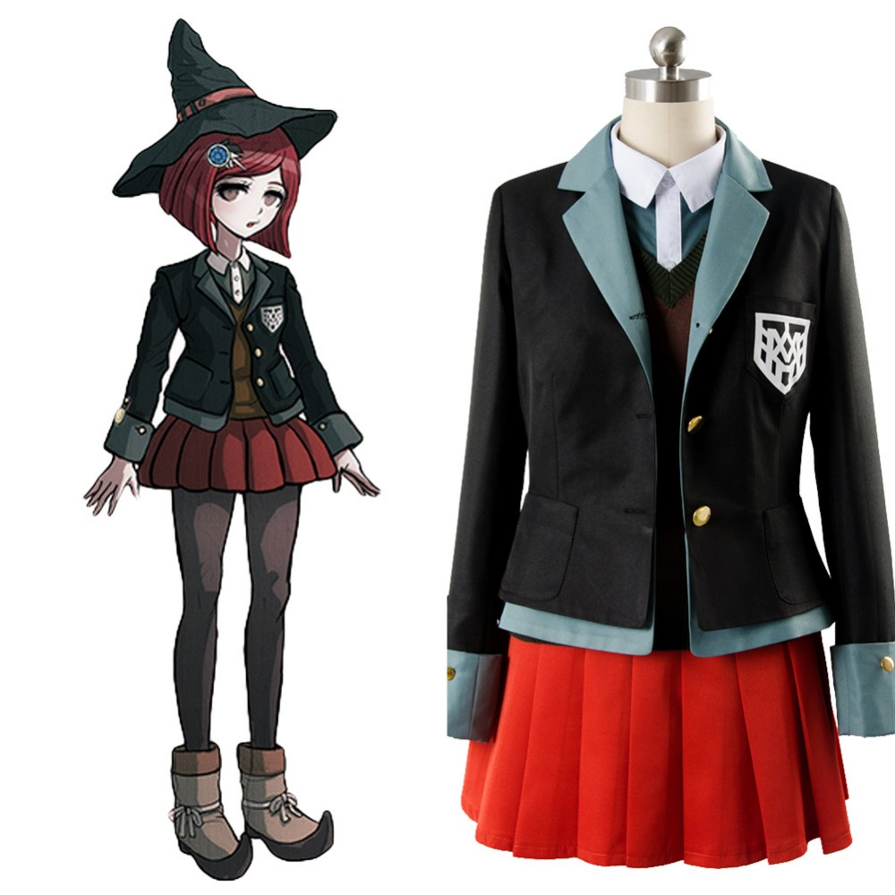 Danganronpa 3 Cosplay Yumeno Himiko Costume Dress Uniform Outfit Full Sets Cosplay Costume Halloween Party Custom Made Full Set