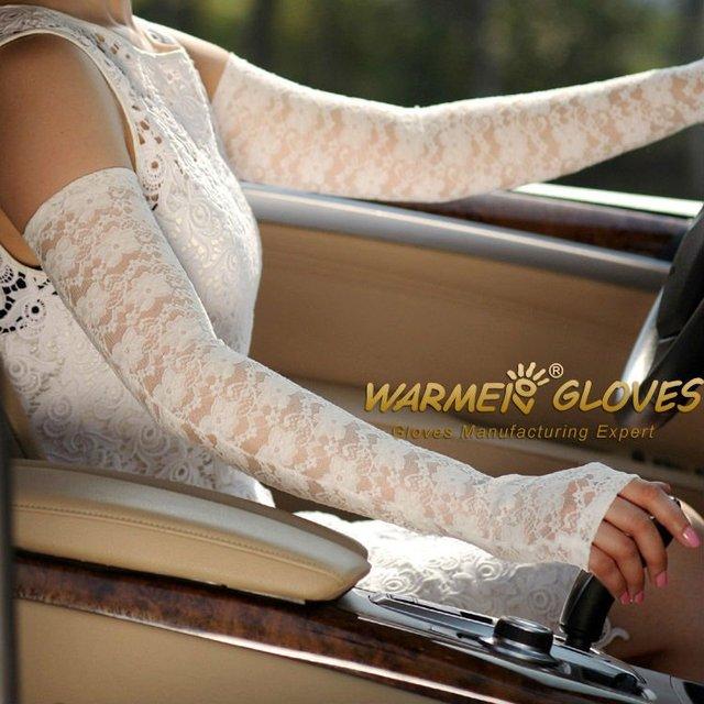 Wedding Dress Preservation Uv Protected: Warmen Opera Long Sexy Lace Fingerless Uv Protection Sun
