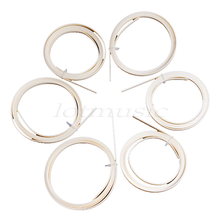6Pcs Ivory ABS Guitar Binding Measures 6mm x 1.5mm Thick Guitar Parts