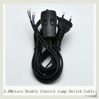 3C VED Lamp Switch Line Power Switch Cable Table Lamp Power Cord 308 Switch Cable Black