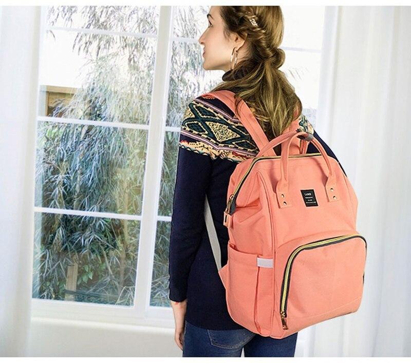 HTB1a22YXQ9WBuNjSspeq6yz5VXaJ LAND New Baby Diaper Bag Fashion Mummy Maternity Nappy Bag Large Capacity Baby Bag Travel Backpack Designer Nursing Bag