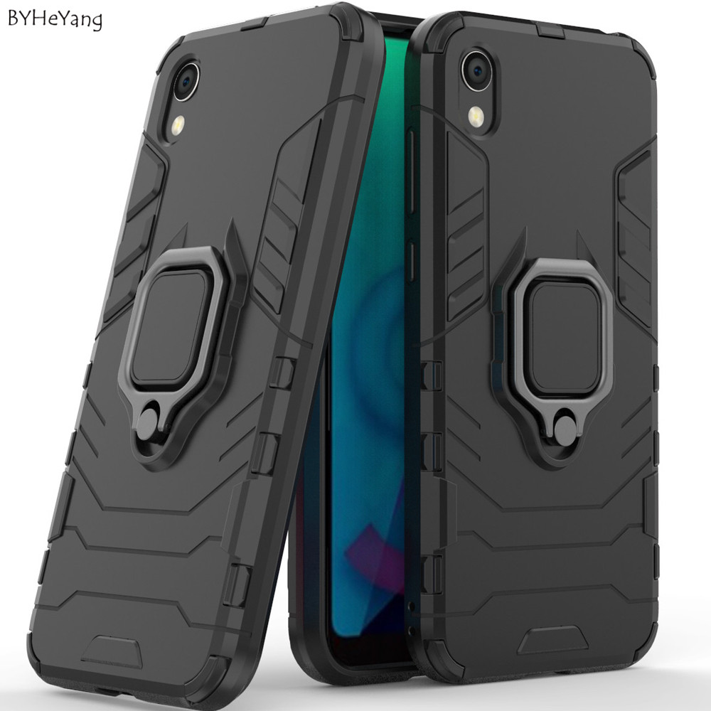 For Huawei Y5 2019 case Y5(2019) shockproof metal finger ring holder stand hybrid hard cover TPU bumper for Huawei Y 5 2019 bags