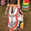 women skirt 2016 tribal bohemian Thailand style printed summer long skirts KB1019