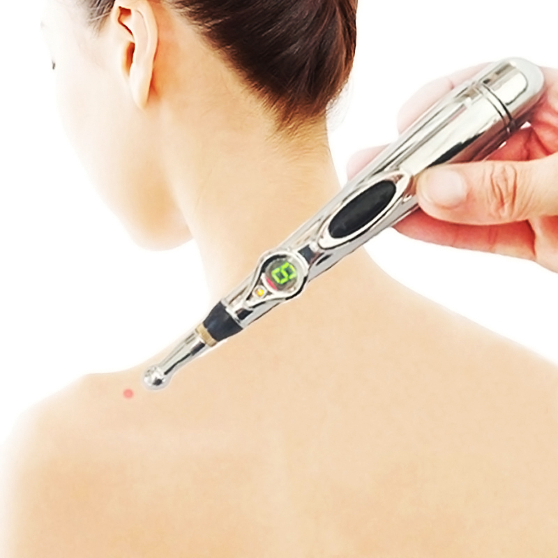 Meridian Energy Acupuncture Pen Laser Electronic Pulse Analgesia Therapy Machine Body Massager Pen Pulse Monitor Pain Relief
