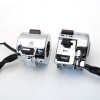 1 Pair Right and Left Side Chrome Plated Control Switch for GY6 Moped Retro Scooter 50cc 125cc 150cc