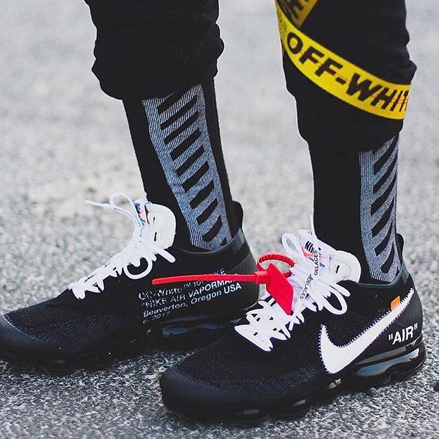 Official Original Limited Nike X OFF-WHITE AIR VAPORMAX OFW Men'S Running Shoes Outdoor Classic Sports Shoes Athletic AA3831 1