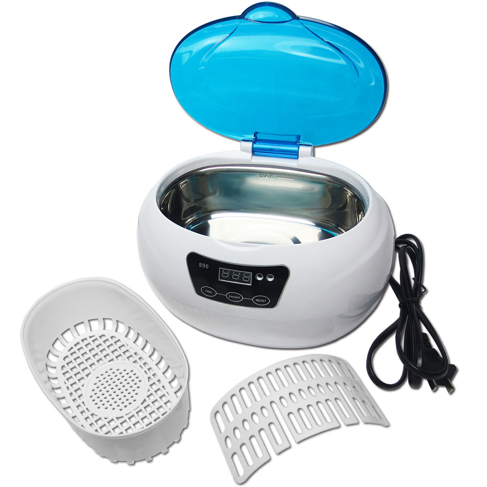 Sterilizer Pot Salon Nail Tattoo Clean Metal Watches Tools Equipment Ultrasonic Autoclave Cleaner For