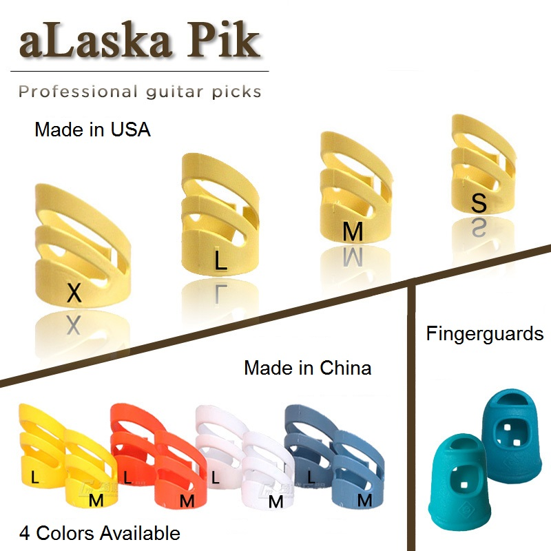 ALaska Pik Finger Pick Guitar Plastic Finger And Thumbpick For Acoustic Guitar, Banjo, Mandolin, Harp, Ukulele Thumb Pick