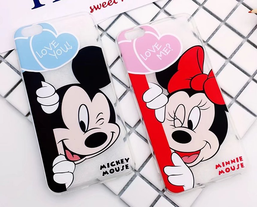 Mickey Minnie Mouse Coque Fundas Cover Phone Cases For iPhone 6 6s s plus 6plus 7 7 plus Donald Daisy Duck Chip Dale Case Capa