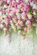 цена на Laeacco Blooming Pink White Flowers Wall Photography Backgrounds Vinyl Custom Camera Photographic Backdrops For Photo Studio