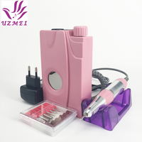 New 110 240V Portable Electric Nail Drill Machine Acrylic Nail File Drill Manicure Pedicure Kit Set Rechargeable for Nail Tools