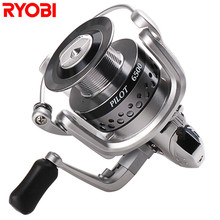 100% RYOBI 6+1BB Spinning Fishing Reels 1500-6500 Series Moulinet Peche for Carp Weeve Feeder Carretilha Para Pesca Fish Tackle