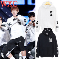 Kpop Bangtan Boys Hoodies Jung Kook Casual Pullovers Long Sleeve Winter Coat Unisex Korean Jimin Rap Monster Sweatshirt WXC