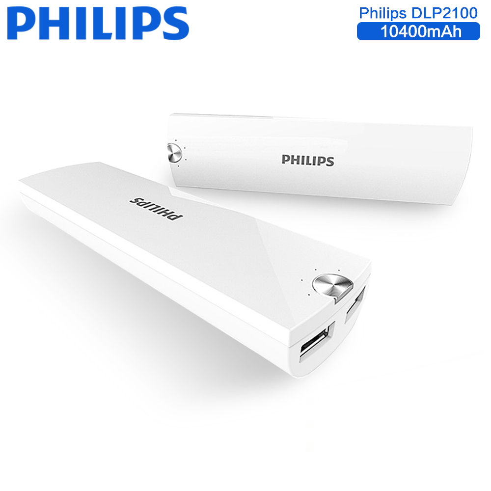Philips Portable 10400mAh Powerbank Dual USB Mobile Phone Charger External Battery Backup For iPhone Samsung Xiaomi