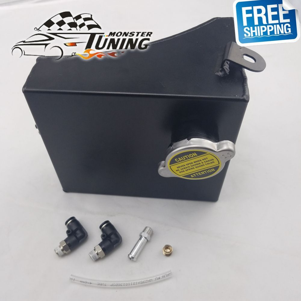 Aluminum Radiator Coolant Overflow Tank Can fit Nissan 240SX S13 Silvia 89-94 US