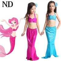 3Y 9Y Girl Mermaid Tail Custome Baby Girl Kids Mermaid Tail Fancy Green Dress Swimmable Bikini