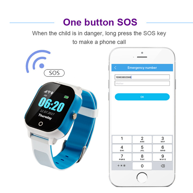 FA23 Smart Children Watch IP67 Waterproof Baby SIM Card Touch Screen GPS WIFI SOS Tracker Kids Alarm Clock Anti-Lost Smartwatch