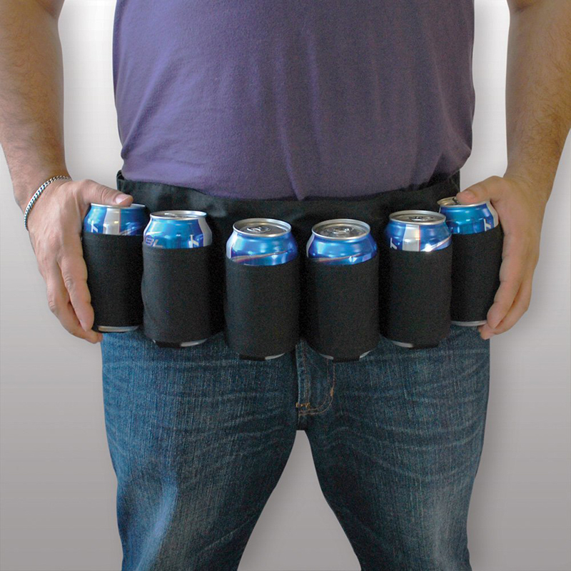 Купить Canvas Beer Belt Holster Drink Soda Can Bottle Pouch 6 Pack Holster Black Camouflage for Party Outdoor Camping Drinks в Москве и СПБ с доставкой недорого