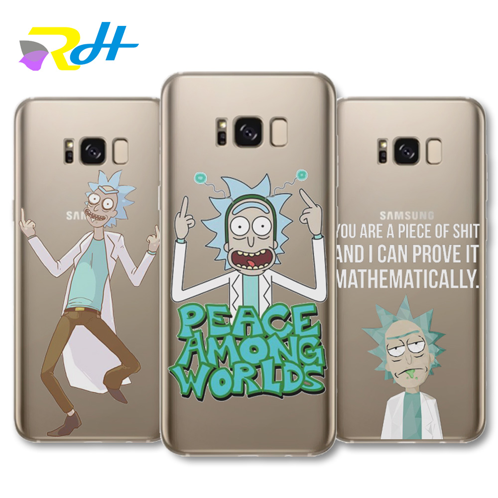 online store cab1b ed482 US $1.98 |Aliexpress.com : Buy Unique Design Rick And Morty Case For Coque  Samsung Galaxy S6 S7 Edge S8 Plus J1 J5 A3 A5 2016 A520 2017 G530 cover ...