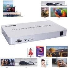 HDMI видео настенный процессор 3x3 видео настенный контроллер Поддержка 1 вход 9 выходов 1080P с RS232 несколько режимов сращивания