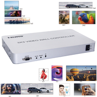 HDMI Video Wall Processor 3x3 Video Wall Controller Support 1 input 9 Outputs 1080P with RS232 multiple splicing modes