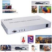 Procesador de pared de vídeo HDMI 3x3 controlador de pared de vídeo compatible con 1 entrada 9 salidas 1080P CON RS232 múltiple empalme de modos